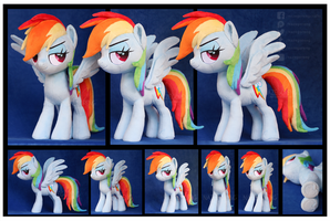Movie style Rainbow Dash Custom Plush by Nazegoreng