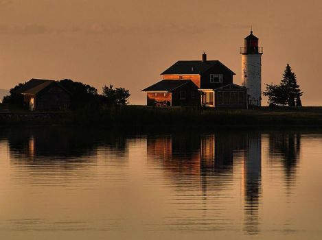 Lighthouse at Beaver Island by aquapell
