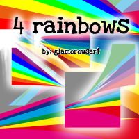 4 Rainbows by me by glamorousart