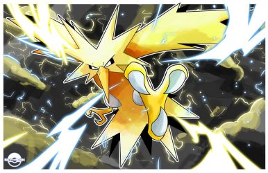 Zapdos Card Artwork 1/2 by rey-menn