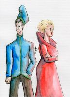 Daily Sketch: Forced Couple by Hunchy