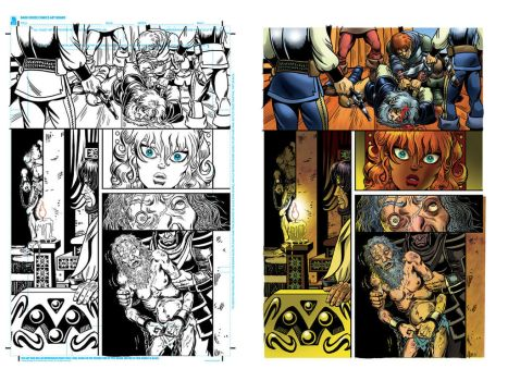 Some more of my comic book coloring by Sonion