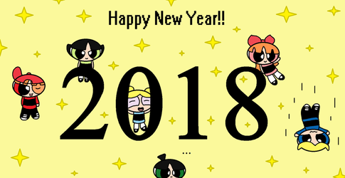 Happy New Year 2018 from the PPG/RRB!! by PowerpuffObsessed