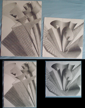 Diptych - Abstract Drawing by kittyq