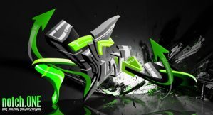 Oraculum Vortex Graff 3D by SikWidInk