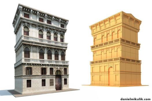Venice Building 3d Model by Cerebrate