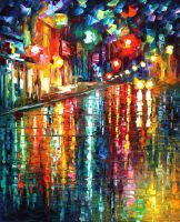 The blur of the rain by Leonid Afremov