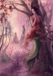 Lady of the Flame Tree by HRFleur