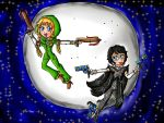 Umbra Witch Linkle and Bayonetta by ninpeachlover