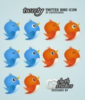 Tweety: Free Twitter Bird Icon by cheth