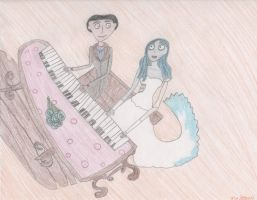 Victor and Emily making music by DisneyPrincessNeeNee