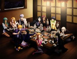 BLEACH - Dinner at restaurant by Arya-Aiedail
