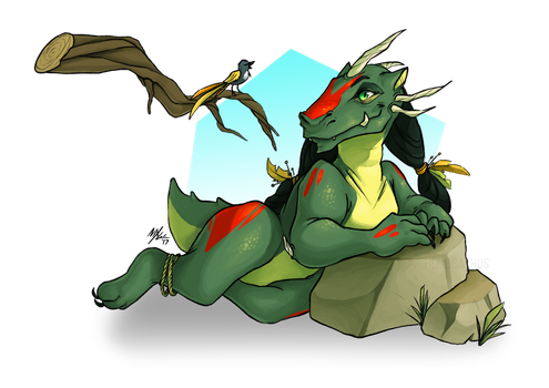 Nadjia the Little Dragoness // WITH TIMELAPSE by Heliocathus