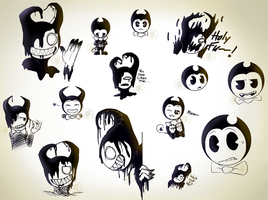 Different Bendy Doodles by TheGGFox