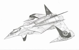 Sai class Heavy Fighter by DissidentZombie