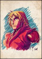 Ken Masters Color by Tursy