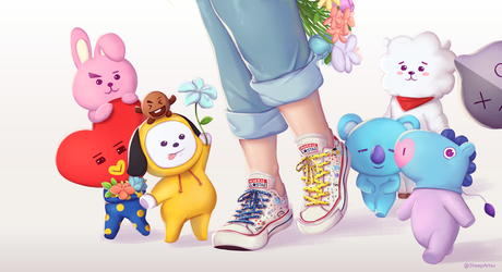 BT21 X Converse by Mariipie