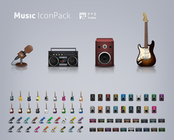 Music icon set by LeMex