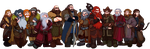 The Hobbit, Thorin and Company by Art-Calavera