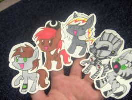 FO:E finger puppets by Derpsonhooves