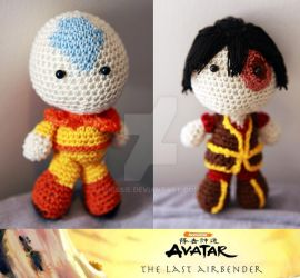 Avatar: The last Airbender - Aang and Prince Zuko by Nissie