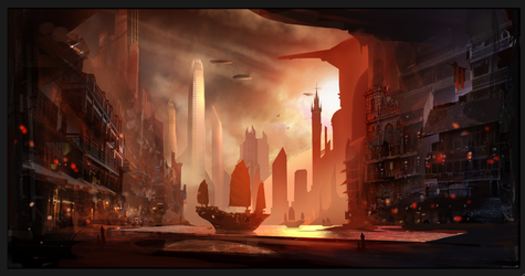 Future Harbor WIP by AlexRuizArt