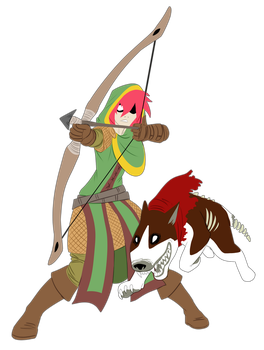 RPG Roulette Jam - Girl and Dog by pyrasterran
