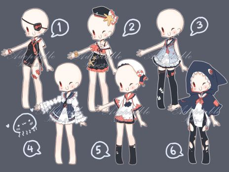 [CLOSED] Adoptable: Outfits VIII by ZylenXia