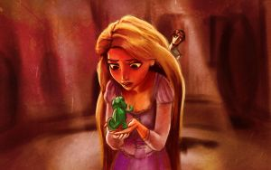 Rapunzel, Pascal... and Flynn by ChristyTortland