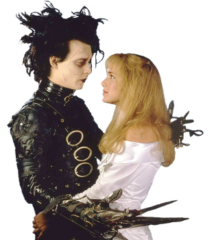 Edward Scissorhands and Kim Boggs STOCK PNG by Shadow-of-Nemo