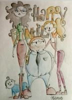 a happy family by Helene-art