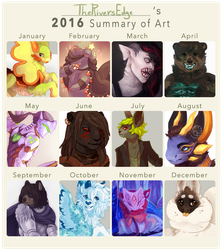 2016 Summary of Art by TheRiversEdge