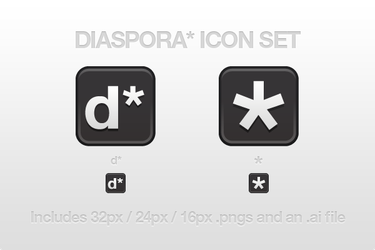 Diaspora Icon Set by CreativeKaizen