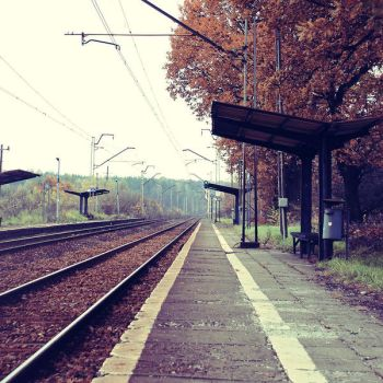 Waiting for the train by BlueColoursOfNature