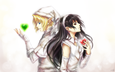 Link and Nicole Commission by yuumei