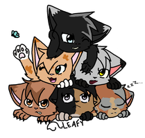 Re-Did Cat Pile by Oakstormftw