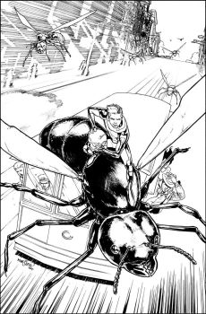 ANT-MAN ANNUAL #1 COVER by davidmarquez