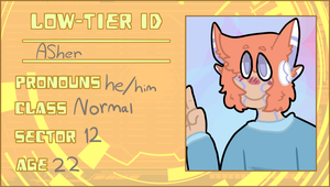 low tier a ID for asher by sabrina-the-dog