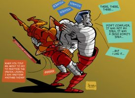 LOGAN SCRATCHS COLOSSUS BACK by drull
