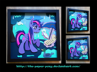 12x12 Wet Mane Twilight Sparkle Shadowbox by The-Paper-Pony