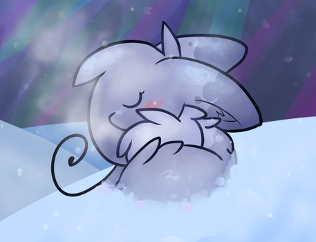 Sleeping in the Snow by Pupom