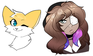 more of those SWEET SWEET HEADSHOTS by squizxy