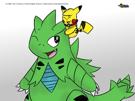(GIFT) Tyranitar Backride by MickeyMario64