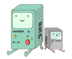 BMO and CMO sitting there having a fart together by TheDemigodDetre