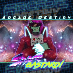 Arcade Destiny - Space bastard LP Cover by andehpinkard
