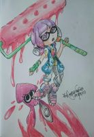 Azalin - Splatoon oc by DragonEmpress666