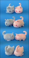 Stacking Plush: Mini Cat OCs by Serenity-Sama