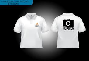 Sony Alpha Eats Shoots And Leaves Polo Tees 2012 by carnine9