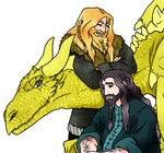 Fanart: Durin's and Dragon by yinyangswings