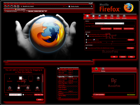 BloodFire- Firefox Theme by KenSaunders